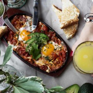 California Breakfast Club Huevos Rancheros