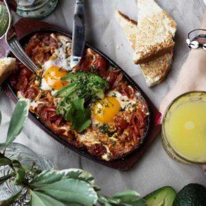 California Breakfast Club Huevos Rancheros